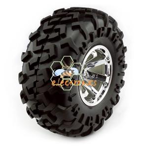 小车越野轮胎一对 126x57mm