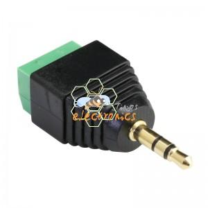 3.5mm音频公接头转3pin接线端子